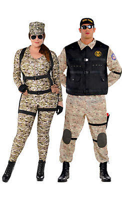 Adult Military Couples Costumes Plus Size