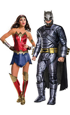 Adult Wonder Woman & Batman Couples Costumes - Batman v Superman: Dawn of Justice