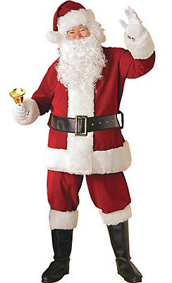 Adult Crimson Regency Plush Santa Suit