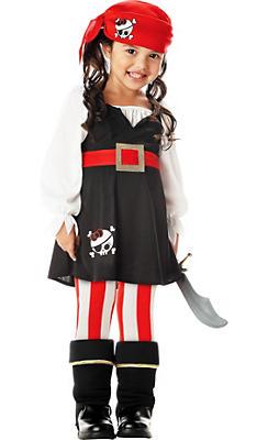 Toddler Girls Precious Pirate Costume