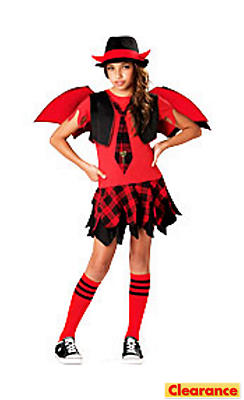 Girls Delinquent Devil Costume