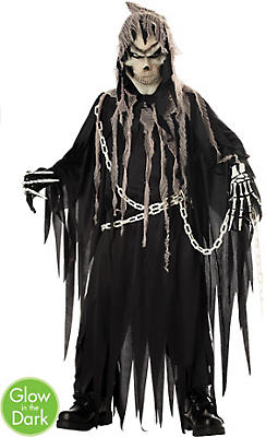 Boys Glowing Mr. Grim Reaper Costume