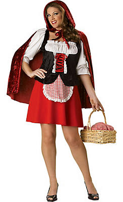 Adult Little Red Riding Hood Costume Plus Size Premier