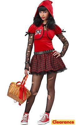 Girls Little Rad Riding Hood Costume