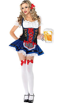 Adult Flirty Fraulein Beer Maid Costume