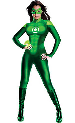 Adult Sexy Green Lantern Uniform Costume