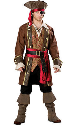 Adult Captain Skullduggery Pirate Costume Elite