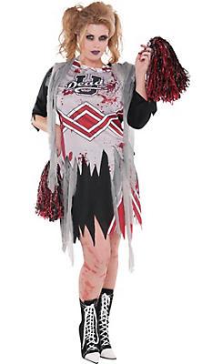 Adult Zombie Cheerleader Costume Plus Size