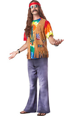 Adult Far Out Hippie Costume