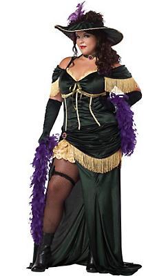 Adult Saloon Madame Costume Plus Size
