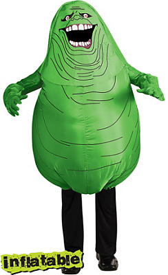 Adult Inflatable Slimer Costume - Ghostbusters