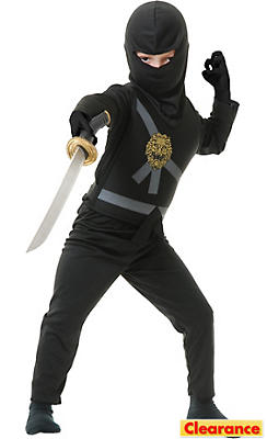 Boys Black Ninja Avenger Costume