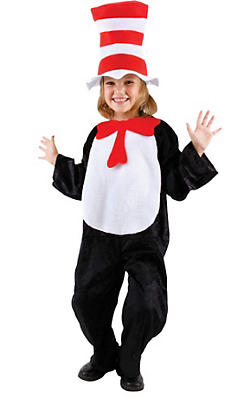 Child Cat in the Hat Jumpsuit Costume - Dr. Seuss