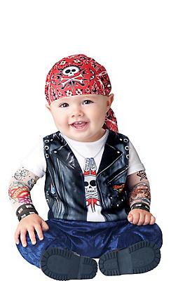 Baby Born to Be Wild Biker Costume