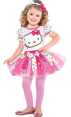 Girls Pink Hello Kitty Costume