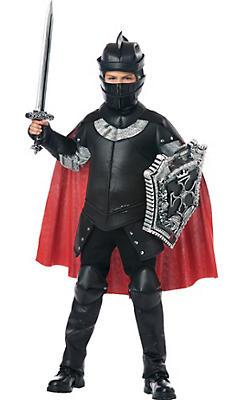 Boys Black Knight Costume
