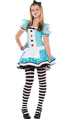 Teen Halloween Costume Ideas teen girls wizard of oz scarecrow costume Teen Girls Clever Alice Costume
