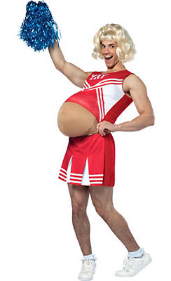 Adult Pregnant Cheerleader Costume