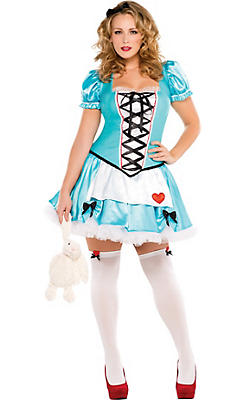 Adult Wonderful Alice Costume Plus Size