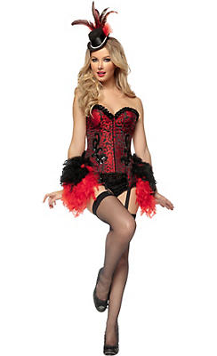 Adult Burlesque Showgirl Costume