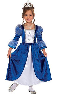 Girls Blue Frost Princess Costume