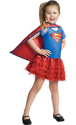 Toddler Girls Tutu Supergirl Costume - Superman