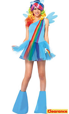 Adult Sassy Rainbow Dash Costume - My Little Pony