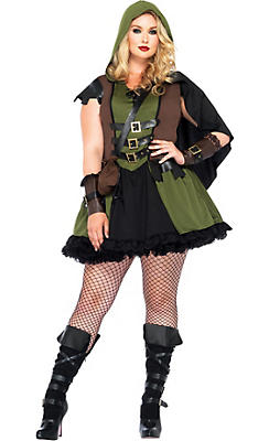 Adult Darling Robin Hood Costume Plus Size