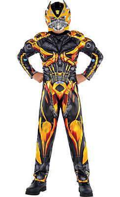 Boys Bumblebee Muscle Costume - Transformers 4