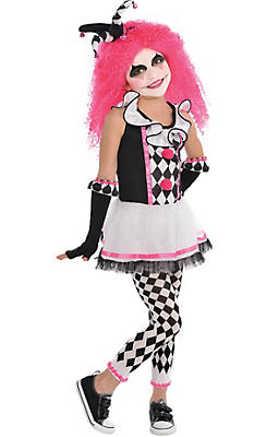 Girls Circus Sweetie Clown Costume