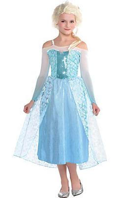 Girls Elsa Costume - Frozen