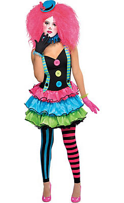 Teen Halloween Costume Ideas teen beach movie deluxe lela girls costume Teen Girls Cool Clown Costume