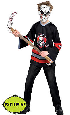 Boys Bloody Face-Off Hockey Costume