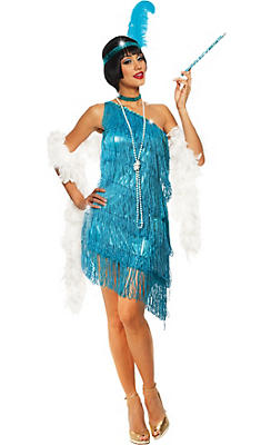 Adult Blue Dazzling Flapper Costume