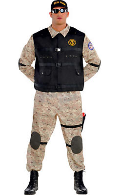 Adult Seal Team Hero Costume Plus Size