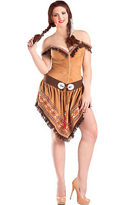 Adult Native American Princess Body Shaper Costume Plus Size