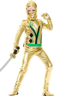 Boys Gold Ninja Avenger Costume