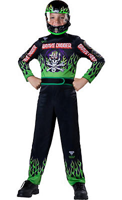 Boys Grave Digger Driver Costume - Monster Jam