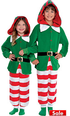 Child Elf One Piece Pajamas