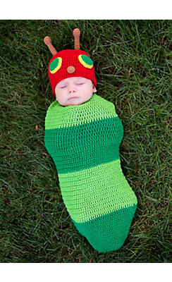 Baby Crochet Cocoon Caterpillar Costume