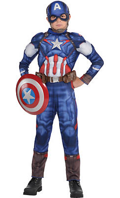 Boys Captain America Muscle Costume - Avengers: Age of Ultron