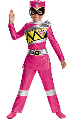Toddler Girls Pink Ranger Costume - Power Rangers Dino Charge