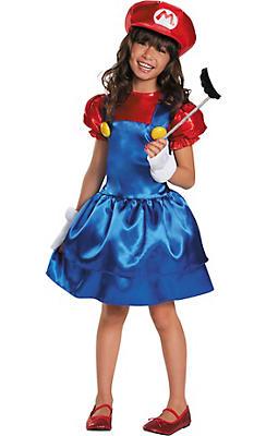 Girls Miss Mario Costume - Super Mario Brothers
