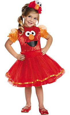 Toddler Girls Elmo Tutu Costume Deluxe - Sesame Street