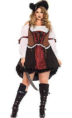 Adult Ruthless Pirate Wench Costume Plus Size