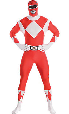 Adult Red Power Ranger Partysuit - Mighty Morphin Power Rangers