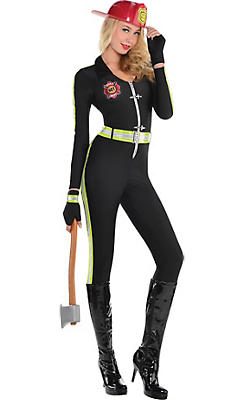 Adult Fired Up Firefighter Costume