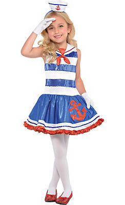 Girls Star Spangled Sailor Costume