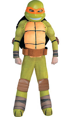 Little Boys Michelangelo Muscle Costume - Teenage Mutant Ninja Turtles