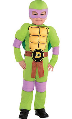 Toddler Boys Donatello Muscle Costume - Teenage Mutant Ninja Turtles
